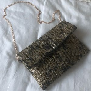 Gold chain envelope bag
